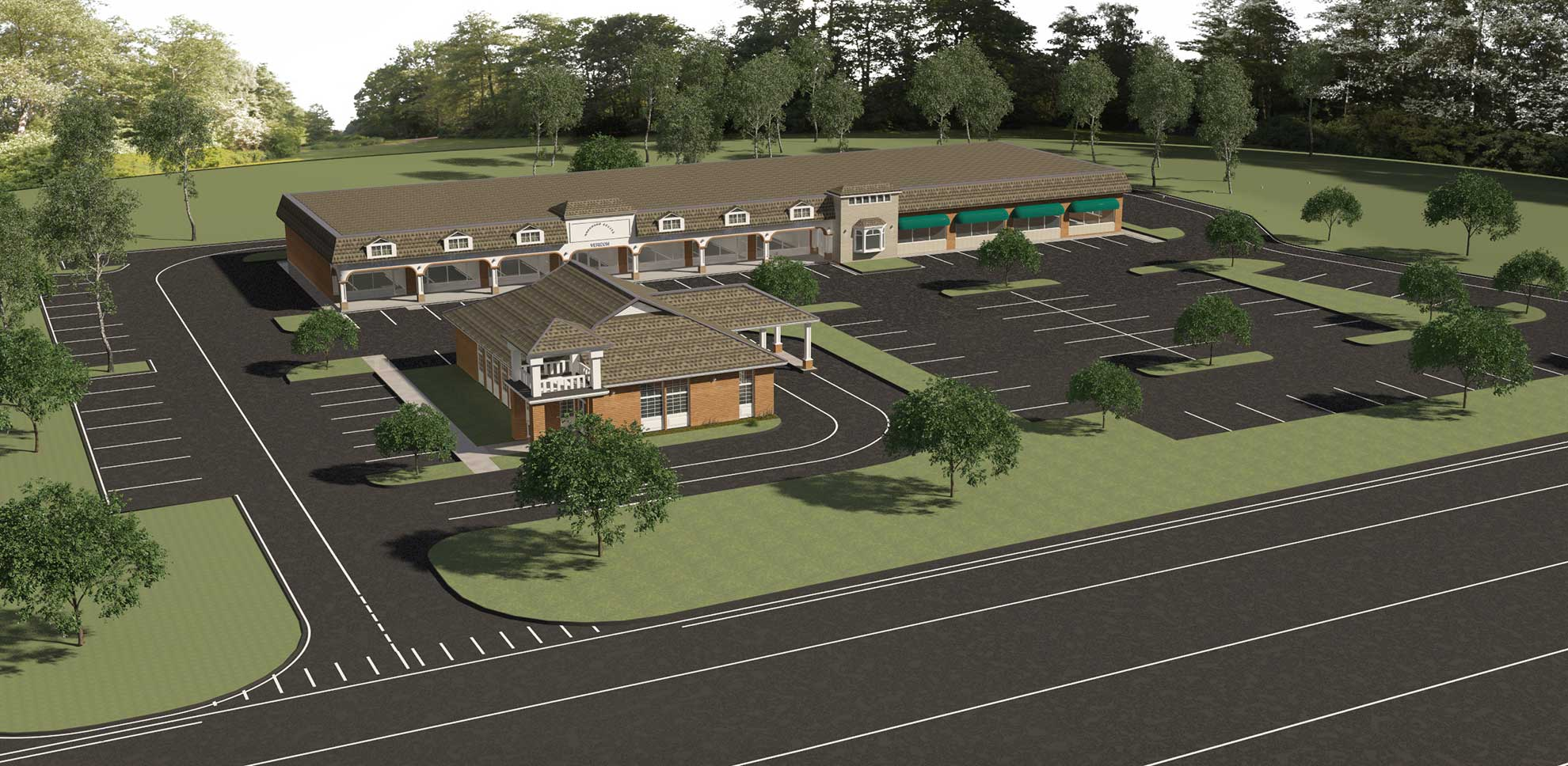 ABG Westford MA Orchard Square Retail Plaza Rendering